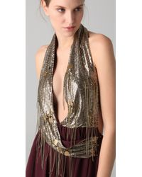 Sheri Bodell - Metallic Halter Gown - Lyst