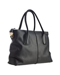 Tod's | Black Leather D-styling Manici New Grand Tote | Lyst