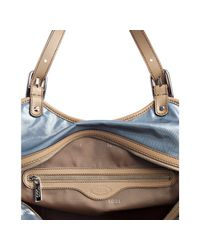 Tod's - Light Blue Coated Canvas G-line Easy Large Tote - Lyst