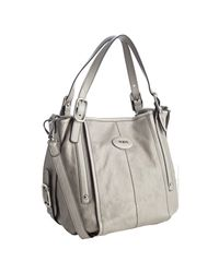 Tod's | Gray Icing Calfskin G-bag Medium Tote | Lyst
