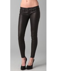 True Religion | Black Stella Stretch Leather & Suede Pants | Lyst