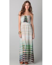 Twelfth Street Cynthia Vincent | Multicolor Shirred Corset Maxi Dress | Lyst