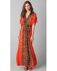 Twelfth Street Cynthia Vincent | Multicolor Pleated Maxi Caftan Dress | Lyst