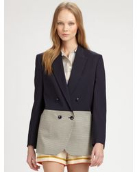 Stella McCartney - Gray Two Tone Jacket - Lyst