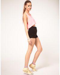 American Apparel | Black Denim Shorts | Lyst