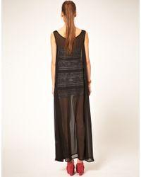 American Apparel - Black Sheer Maxi Dress - Lyst
