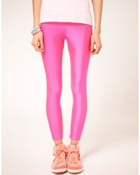 American Apparel - Yellow Fluro Leggings - Lyst