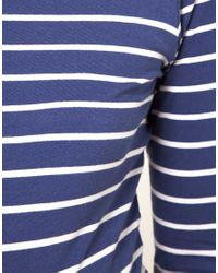 ASOS   Blue Maternity Dress In Cotton Breton Stripe   Lyst