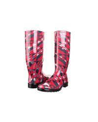 Burberry | Pink Herringbone Check Rain Boot | Lyst