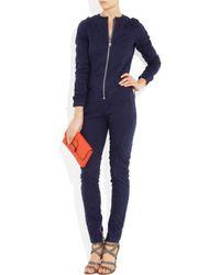 McQ - Blue Quilted Stretch-denim Jumpsuit - Lyst
