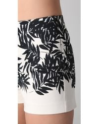 Peter Som | White Bamboo Print Shorts | Lyst