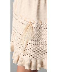 RED Valentino - White Sleeveless Knit Dress - Lyst