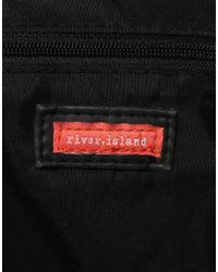 River Island - Brown Zip Messenger Bag - Lyst