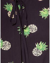 Whistles - Black Pineapple Print Jumpsuit - Lyst