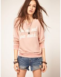 Wildfox - Pink Youve Met Your Match Jumper - Lyst