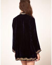 Winter Kate - Black Sweet Sargeant Velvet Embroidered Jacket - Lyst
