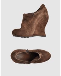 Bottega Veneta | Brown Suede Wedges | Lyst