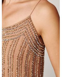 Free People - Natural Beaded Cami - Lyst