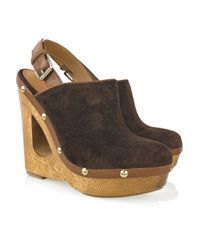 Kors by Michael Kors | Brown Harbor Suede Slingback Clogs | Lyst
