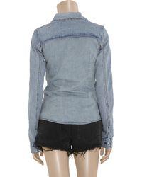 Ksubi   Blue Denim Shirt   Lyst