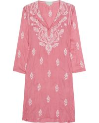 Leaves Of Grass | Pink Jaipur Embroidered Silk Kaftan | Lyst