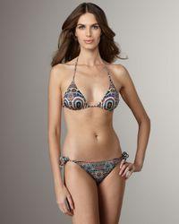 Jean Paul Gaultier   Brown Printed String Bikini   Lyst