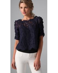 Joie | Blue Fanny Lace Top | Lyst