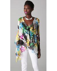Just Cavalli - Multicolor Floral Tunic - Lyst