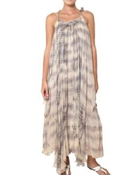 Mes Demoiselles | Gray Layered Batik Georgette Long Dress | Lyst
