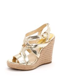 Michael Kors | Metallic Palm Beach Espadrille, Gold | Lyst