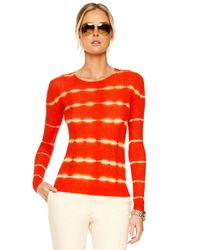 Michael Kors | Red Tie-dye Striped Shirt | Lyst