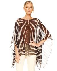 Michael Kors | Multicolor Zebra-print Chiffon Tunic | Lyst