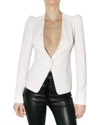 Mugler - White Viscose Jersey Jacket - Lyst