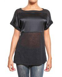 Parronchi | Black Kimono Knit T-shirt | Lyst
