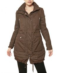 Peuterey - Brown Fox Hill Nylon Parka Trench Coat - Lyst
