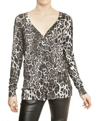 Philipp Plein | Multicolor Leopard Print Cotton Silk Knit Sweater | Lyst