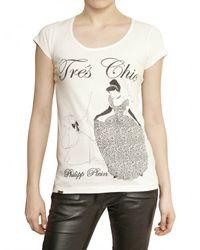 Philipp Plein | White Swarovski Cinderella Cotton Jersey T-shirt | Lyst