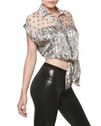 Balmain | White Bandana Crop Top | Lyst