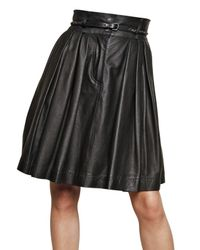 Preen By Thornton Bregazzi | Black Leather Skirt | Lyst