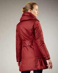 Preta Lobue | Red Ruffle-Bottom Coat | Lyst