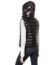 Pyrenex - Black Laquer Nylon Sleeveless Down Jacket - Lyst