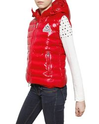 Pyrenex - Red Laque Nylon Sleeveless Down Jacket - Lyst