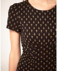 Oasis | Multicolor Anchor Print Tea Dress | Lyst