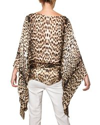 Roberto Cavalli | Multicolor Leopard Print Silk Chiffon Shirt | Lyst