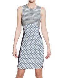 Stella McCartney - Blue Printed Viscose Jersey Dress - Lyst