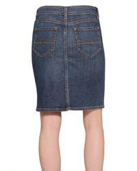 Tommy Hilfiger | Blue Denim Stretch Skirt | Lyst