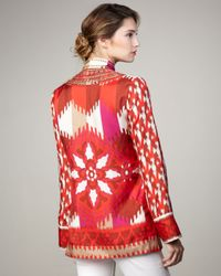 Tory Burch | Iveta Tunic, Red Volcano | Lyst