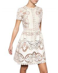 Valentino | White Cotton Guipure De Flandre Dress | Lyst