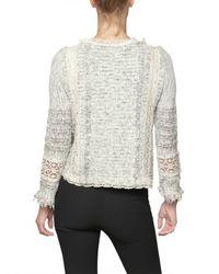 Vanessa Bruno   Gray Croche Tweed with Fringing Jacket   Lyst