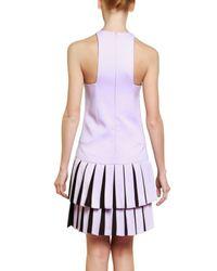 Versus - Purple Pleated Cady Stretch Dress - Lyst